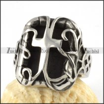 Stainless Steel Cross Ring - r000068