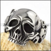 Spanner Skull Stainless Steel ring - r000093