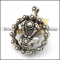 Stainless Steel Motorcycle Engine Bicycle Chain Link Pendant p002817