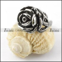 Casting Rose Ring in Stainless Steel - r000273