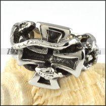 Steel Cross Ring for Punk Lovers - r000056