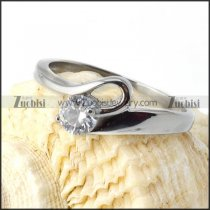 Clear Zircon Stone in 316 Stainless Steel - r000027
