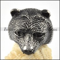 stainless steel bear ring - r000095