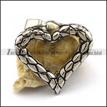 Hollow Stainless Steel Heart Pendant p002579