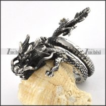 Antique Style Dragon Ring in Stainless Steel - r000055