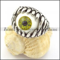 Olive Green Scary Eyeball Ring r001304