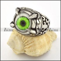 top quality 316L Stainless Steel Green Eye Ring with punk style for Motorcycle bikers - r000539