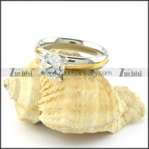 Elegant Weddig Ring in Stainless Steel Metal -r000939