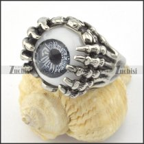 unique grey evil eye ghost claw ring r001196