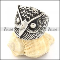 Stainless Steel Night Owl Rings -r000649