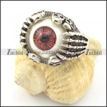 Purple Round Evil Eye Skull Rings r001299
