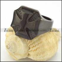 black plated casting iron cross ring r001211