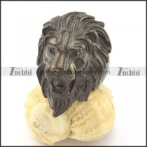 black plated casting lion ring r001214