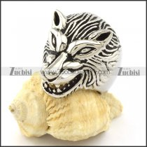 Animal Jewelry with Shaped of Wolf Ring in Stainless Steel -r000977