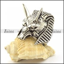 ANUBIS Ring in Stainless Steel from Egyptian mythology Jewelry -r000979