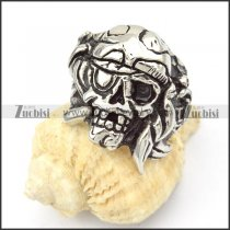 Stainless Steel Skull Rings -r000372