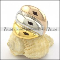 fashion jewelry 21 stainless steel ring with 3 plating tones r001195