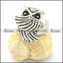 cute owl ring for ladies in stainless steel r001308