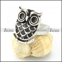 brilliant oxidation-resisting steel Owl Ring with punk style for Motorcycle bikers - r000541