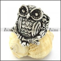 Animal Jewelry with Shaped of Owl Ring in Stainless Steel -r000975