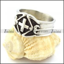 Stainless Steel Cross Rings -r000642