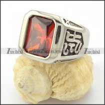 big clear red zircon ring for women r001160