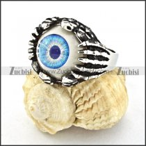 practical Stainless Steel Evil Eye Ball Ring with punk style for Motorcycle bikers - r000527