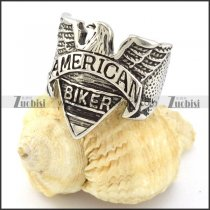 Good Quality 316L Stainless Steel American Eagle Biker Ring r000887