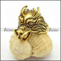 gold casting stainless steel dragon ring r001656