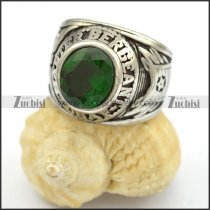 dark green zircon ring for woman r001670