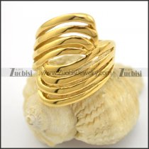 all yellow gold plating hollow ring with size from 6 to 9 r001715