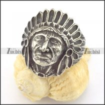 stainless steel Indian chiefs ring r001417