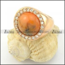 rose gold amber stone ring around clearcrystal r001486