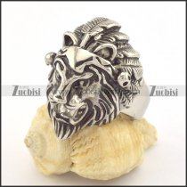 lion ring in stainless steel for animal lovers r001346