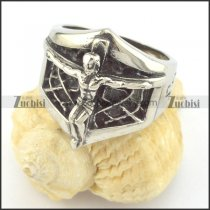 jesus ring with spider net r001407