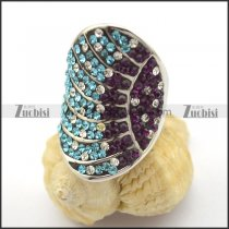 Colored Stone Rings for Ladies including Clear Purple Blue Rhinestones r001753