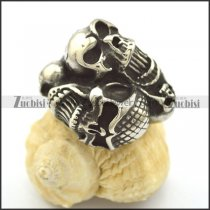 two headed skull rings r002111