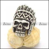 Indian Chief Skull Ring r002128