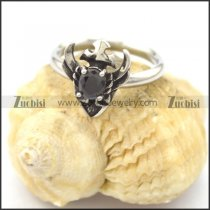 black zircon love rings for women r002080