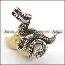 Stainless Steel Ring Combined Dragon and Snake r001860