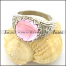 clear pink stone flower ring r002052