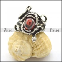 snake ring with big clear ruby stone r002108