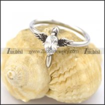 clear zircon 2 wings womens ring r002073