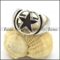 Hollow Black Star Ring r001919