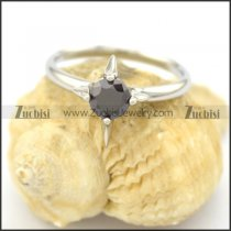 solid black facted zircon ring for lady r002078