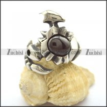 Black Stone Scorpion Ring r002327