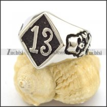 stainless steel 13 biker ring r002255