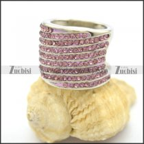 Pink Rhinestones Thumb Rings for Ladies r002374