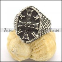 black stone cross ring r002261