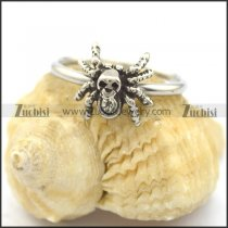 cute spider ring with clear rhinestoe for ladies r002205